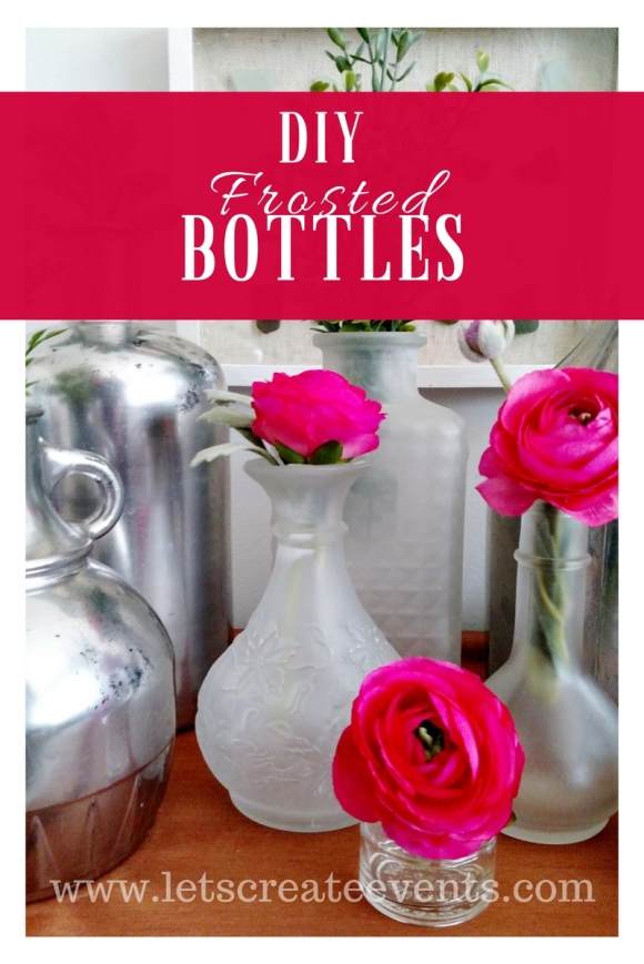 DIY Frosted Bottles Title